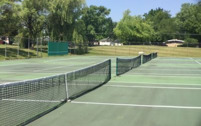 Tennis courts at Meadowbrook Country Club